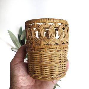 Wicker Pencil Holder Woven Basket